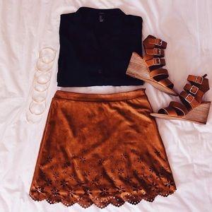 Brown skirt from forever21